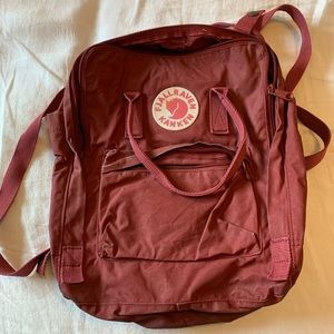 Fjallraven Classic Kanken Maroon Red Backpack